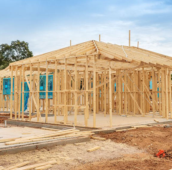 House frame under construction | Featured image forCourses in Building and Construction.