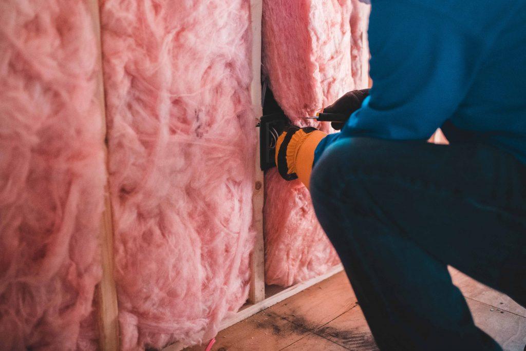 Home renovator removes insulation